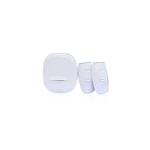Solight Bezdrôtový zvonček batériový do zásuvky 2 tlačidlá 1L62 biela