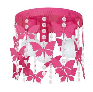 Decoland Detské stropné svietidlo ELZA butterflies 3xE27/60W/230V DE9792