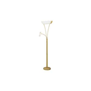 Eglo EGLO 88168 - Stmievateľná stojanová lampa ONDIA 1 1xG9/40W+1xR7s/120W mosadz / biela EG88168