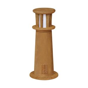 Eglo EGLO 88531 - vonkajšia lampa ODYSEO 1xE27/22W hrdzavá/biela EG88531