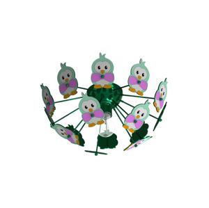 Eglo Eglo 95636 - Detské stropné svietidlo VIKI 2 1xE27/60W/230V zelená EG95636