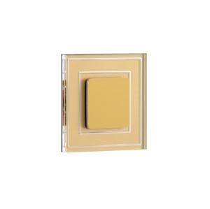 LDST LDST KE-01-SZ-BC8 - LED schodiskové svietidlo KELLY 8xLED/1,2W/230V zlatá 3500K LD0072