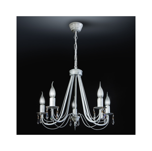 Light4home Luster na reťazi DANIELLE CRYSTAL 5xE14/40W/230V