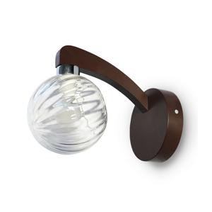 Light4home Nástenné svietidlo PLEIADA 1xE14/40W/230V tmavé drevo LH0286