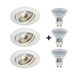 Philips Philips 59333/31/PN - SADA 3x LED Kúpeľňové podhľadové svietidlo MYLIVING OPAL 3xGU10/3W/230V P2490