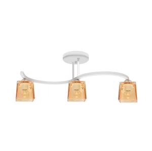 Helam Prisadený luster SANTOS 3xE27/60W/230V biela/oranžová