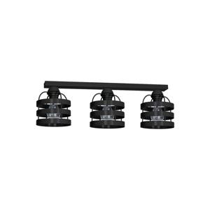 Decoland Prisadený luster TUBE 3xE27/60W/230V čierna DE0628