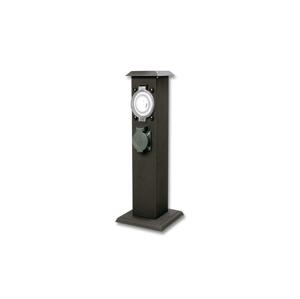 Ecolite Vonkajší zásuvkový stĺpik s časovačom 2Z IP44
