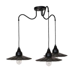 Luminex Závesné svietidlo BOYD 3xE27/60W čierna LU1356